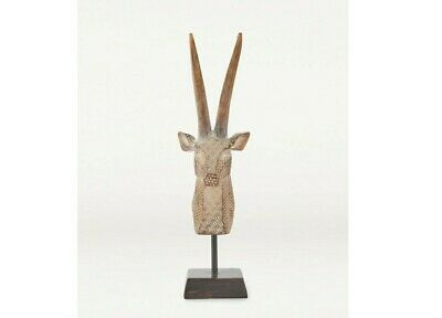Printed Antelope Head On Stand 43.5cm Tall (1) • 19.95£