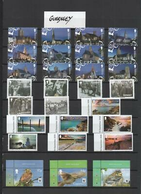 Guernsey/alderney Collection Mnh On 6 Pages Face £60 • 14.25£