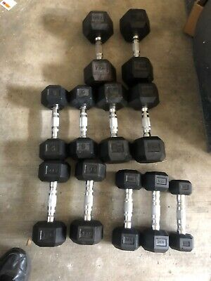 AU260 • Buy HEX Dumbell Set , 2-7kg , Very Good Condition