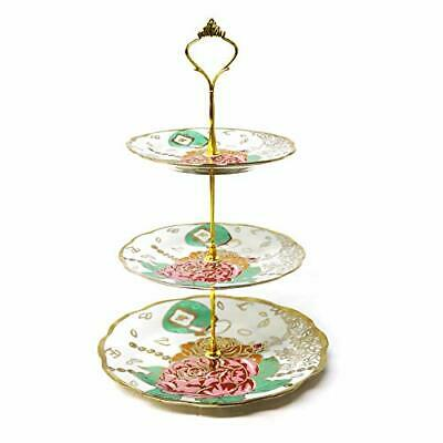 Ceramic Cake Stand Porcelain Round Display With New Fittings Can Be • 26.99£
