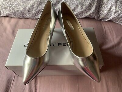 Pewter Kitten Heeled Shoes Dorothy Perkins Size 4 New • 10£