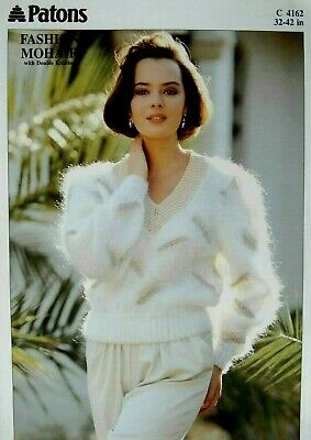 PATONS Knitting Pattern 4162 - Ladies Sweater In Mohair & DK 32 -42 - Not A Copy • 2.20£