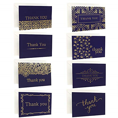 Ideal Home 48 Pack Thank You Cards Multipack With Envelopes, Greeting Cards With • 16.39£