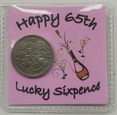 £2.99 • Buy 65th Happy Birthday Sixpence Gift *1956 Coin* -  1st Class P&p Included