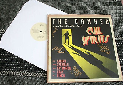 The Damned Evil Spirits Signed 12  White Vinyl Lp Mint Never Played Very Rare • 75£