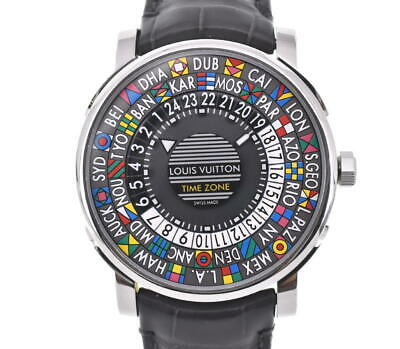 $ CDN6770.31 • Buy LOUIS VUITTON Escal Automatic Time Zone Q5D20 Watch Black Used
