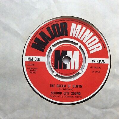 """SECOND CITY SOUND """" The Dream Of Olwyn"""" UK 1969 MAJOR MINOR Label 7"""" • 4.49£"""