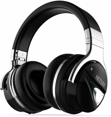 $ CDN76.17 • Buy Wireless Bluetooth Headphones With Mic Active Noise Cancelling Headphones Over