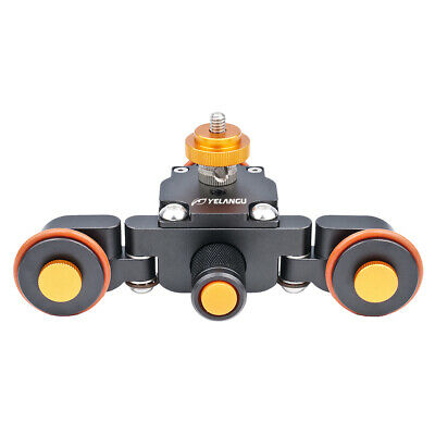Tabletop Rolling Slider Auto Dolly Car Motorized Camera Dolly 3 Wheel Video • 26.64£