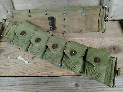 $75.98 • Buy Authentic Pre Wwii Ww2 Usmc Guadalcanal M1 Garand 1903 Cartridge Belt 10 Pouches