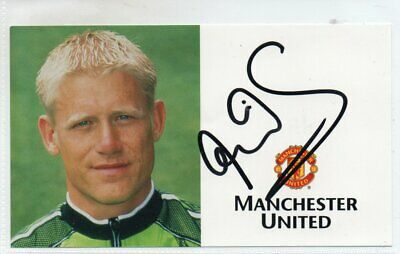 Peter Schmeichel  Manchester United Signed Club Card • 10£