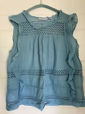 AU20 • Buy Country Road Blue Cotton Top Like Isabel Marant Size M