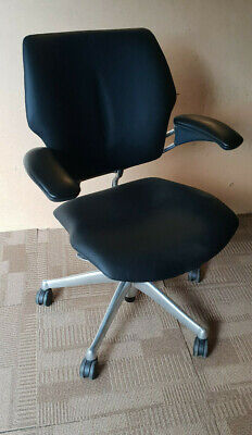 Humanscale Freedom Chair In Black Leather Great Condition • 249£