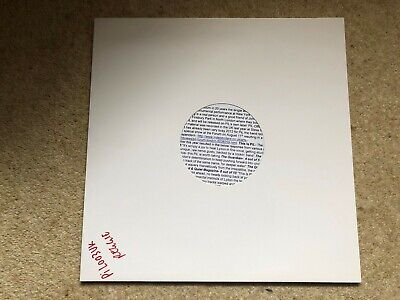 Public Image Ltd PiL - Reggie Song 12  White Label Test Pressing W/Press Release • 0.99£