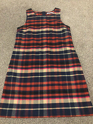 Girls M&s Checked Dress Age 8-9 Years • 3£