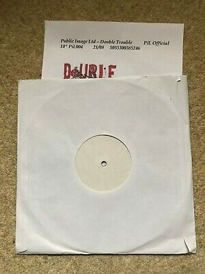 Public Image Ltd PiL - Double Trouble 10  White Label Test Pressing W/ Press Re  • 8.50£