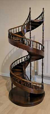 A Large Architectural Scale Model Of A Spiral Staircase In Mahogany. Very Rare • 1,195£