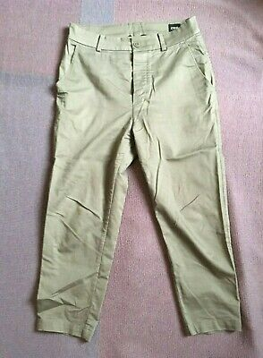 Urban Outfitters Common Homme Tapered Cropped Khaki Trousers Size 32 • 0.99£