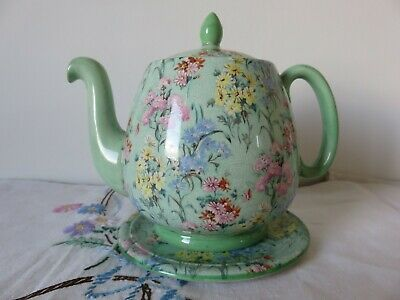 Shelley Melody Large Tea Pot On Stand • 75£