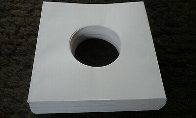 AU28 • Buy 100 X NEW WHITE HEAVY PAPER RECORD SLEEVES FOR 7  VINYL 45 's EP