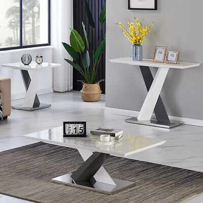 £45.99 • Buy High Gloss Coffee Table Side Table Sofa End Table Living Room Furniture White