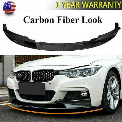 AU91.75 • Buy Carbon Fiber Look Front Bumper Lip Spoiler For 2012-18 BMW F30 3 Series M Style