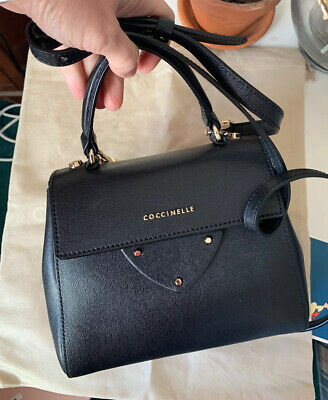 Coccinelle Black Crossbody Signature Bag Great Condition, Dust Bag • 35£