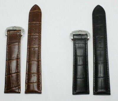 £26.99 • Buy Leather Watch Straps For OMEGA Watches With Deployment Clasp