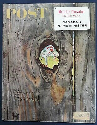 $ CDN25 • Buy Norman Rockwell Saturday Evening Post August 30, 1958