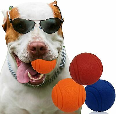 £6.49 • Buy  HIGH BOUNCING Indestructible Tough Solid Core Rubber Dog Ball Interactive Toys