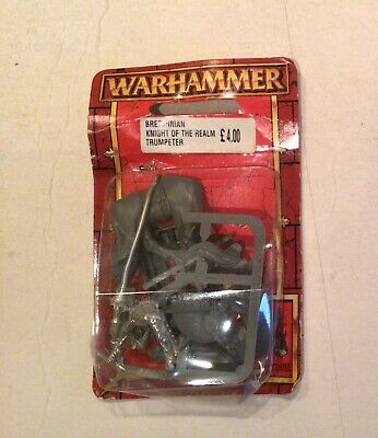 Warhammer Bretonnian Knight Of The Realm Trumpeter On Blister • 5£