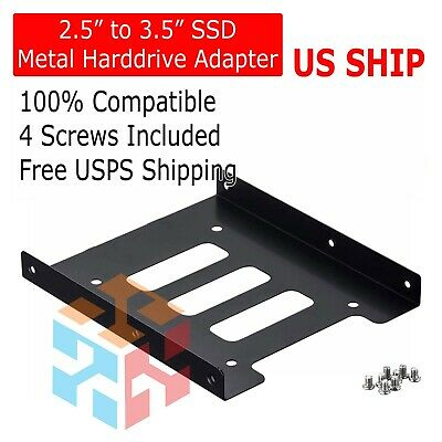 AU3.51 • Buy 2.5  To 3.5  Bay SSD Metal Hard Drive HDD Mounting Bracket Adapter Dock / Tray
