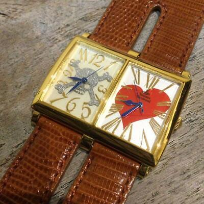 £141.96 • Buy Vivienne Westwood Double Face  Watch Gold Color !! Battery Replaced