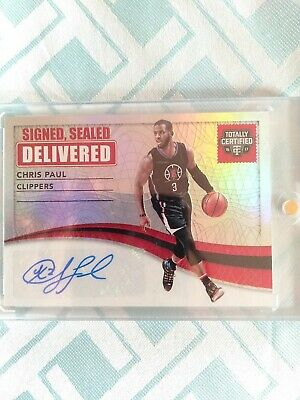 AU65 • Buy Panini 2016-17 Totally Certified Signed Sealed Delivered Chris Paul Clippers...