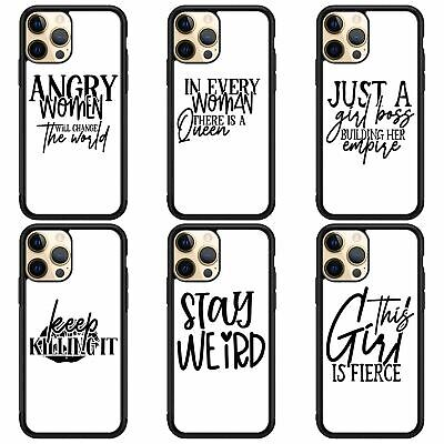 AU5.89 • Buy Phone Case For All Iphone Women Girls Feminist Motivational Quotes Gift Cover