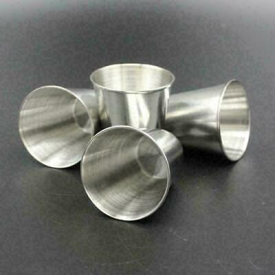 AU13.73 • Buy 4Pcs Stainless Steel Mini Cup Mug Drinking Coffee Beer Travel C4I1 Campi Y9G7