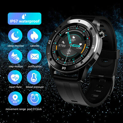 AU35.99 • Buy Men Waterproof Smart Watch Heart Rate Monitor Fitness Tracker For Android IPhone