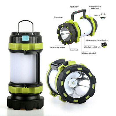 AU21.85 • Buy Portable USB Rechargeable Camping Lantern Hiking Tent Outdoor Lamp Light AU