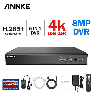 AU139.59 • Buy ANNKE 8CH 4K H.265+ 8MP HDMI DVR Video Recorder For Home Security Camera System