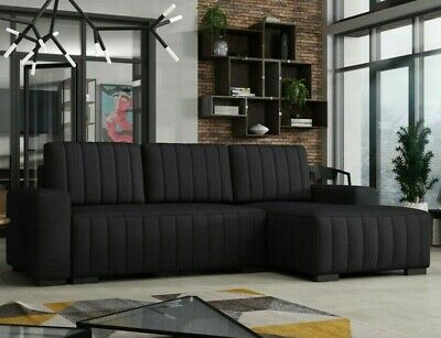 £415 • Buy Corner Sofa Bed HUGO DB With Storage Container Springs New