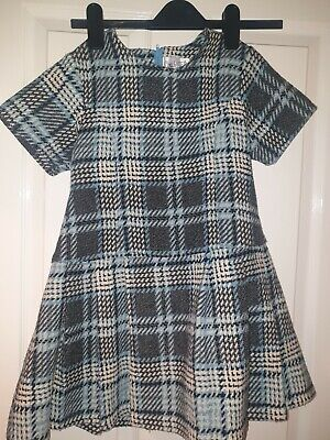 Girls Checked Couché Tot Dress 7-8 • 0.99£