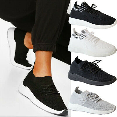 £12.95 • Buy Ladies Running Sock Trainers Womens Mesh Jogging Sport Sneakers Pumps Shoes Size