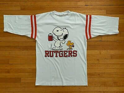 $ CDN72.79 • Buy VINTAGE 70s - 80s RUTGERS UNIVERSITY & SNOOPY T-SHIRT MEN SZ S COLLEGE TEE