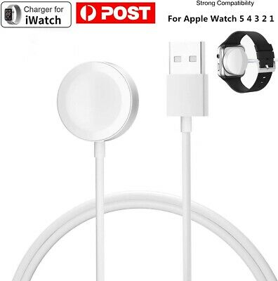 AU7.50 • Buy For Apple Watch IWatch 5 4 3 2 1 Magnetic Charger Charging Cable Metal Finish AU