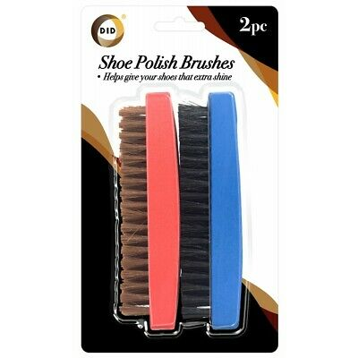 £3.99 • Buy Traditional Boot SHOE Brush Polish Buffing Buff Shine Leather Clean Smart 2pc