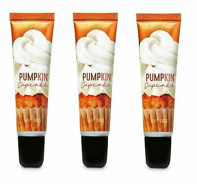 £13.45 • Buy Bath And Body Works PUMPKIN CUPCAKE Shimmer Lip Gloss New & Sealed Set Of 3