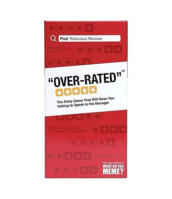 AU17.96 • Buy Over-Rated By The Creators Of What Do You Meme Party Card Game New Sealed