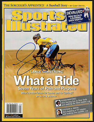 Lance Armstrong Authentic Autographed Signed Sports Illustrated Beckett A28321 • 107.81£