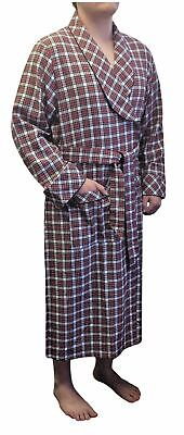 $49.99 • Buy Lee Valley Ireland - Men's Flannel Robe Small Red/White Check