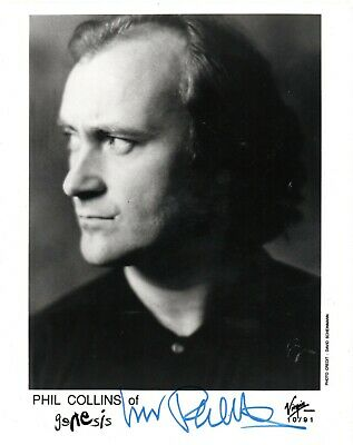 £165 • Buy Phil Collins  Genesis  Hand Signed 10x8 B/W Music Promo Photo Autographed